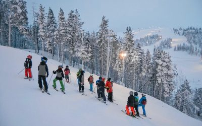 Bookings/Ski School lessons during weeks 8 and 9
