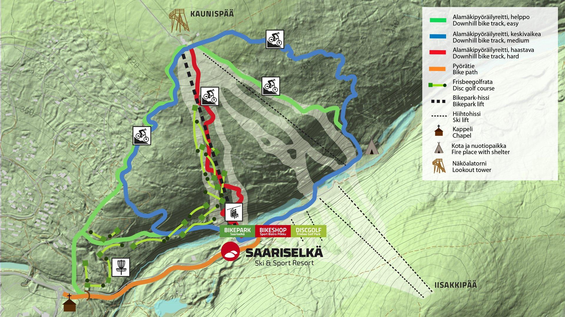 Bikepark Is Closed For Winter Saariselka Ski Sport Resort